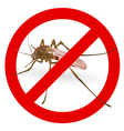 Stop mosquito sign vector image