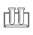 tube test isolated icon vector image