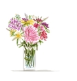 Floral summer bouquet for your design vector image vector image