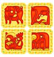 Chinese horoscope animal set vector image vector image