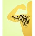 Maori body art tattoo vector image