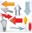 decorative arrows vector image vector image