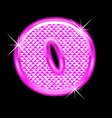 O letter pink bling girly vector image vector image
