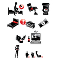 bad luck black icons isolated vector image