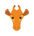 giraffe cartoon icon vector image