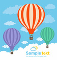 Hot Air Balloon and Clouds vector image