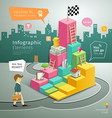 Info graphic Graph Steps to Success business man vector image