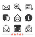mail envelope icons message document symbols vector image