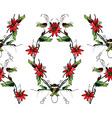 Passiflora frame pattern vector image