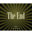 Movie ending vector image vector image