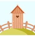 Villiage wooden toilet vector image