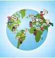 Global languages translate concept vector image
