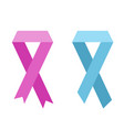 flat ribbon of world cancer vector image