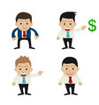 set of funny cartoon office businessman vector image vector image