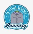 laundry logo emblem badge vector image