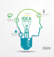 Modern Design light dot Minimal style infographic vector image vector image