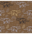 Jurassic triceratops Seamless pattern vector image