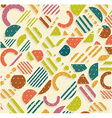 Vintage geometric pattern in retro 80s style vector image