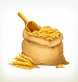 Ears and wheat bag isolated vector image