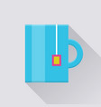 mug with tea bag pocket icon vector image