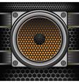 musical speaker vector image