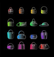 set of colored icons of womens bags vector image