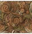 Spiral decorative doodles seamless pattern vector image