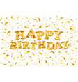 upper case letters happy birthday from golden vector image