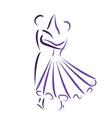 Waltz dancing couple vector image