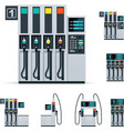 gas station pumps set vector image vector image