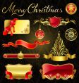 Christmas golden design elements vector image
