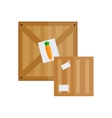Boxes warehouse shipping container vector image