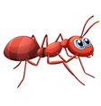 An ant crawling vector image vector image