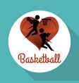 basketballl design sport icon white background vector image