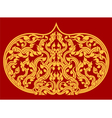 Beautiful Thai art pattern on red background vector image