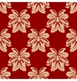 Dainty beige and maroon floral seamless pattern vector image vector image