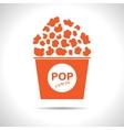 popcorn icon Eps10 vector image