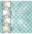 Elegant pale blue Rococo background vector image vector image