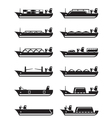 Merchant and cargo ships vector image vector image