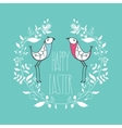 Happy Easter festive greeting card with floral vector image