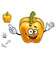 Smiling orange sweet bell pepper vegetable vector image