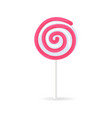 swirl spiral lollipop candy isolated on white icon vector image