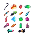 Video Game Weapon Collection vector image