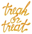 Lettering treak or treat tinsels vector image vector image