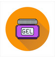 hair gel simple icon on circle background vector image