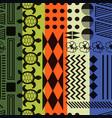 multicolored striped aloha ornament seamless vector image