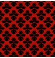 Pattern with damask motifs in rich red vector image