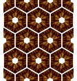 Mosaic hexagons pattern vector image