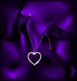 lace and pendant heart vector image vector image