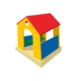 Toy house cartoon icon vector image